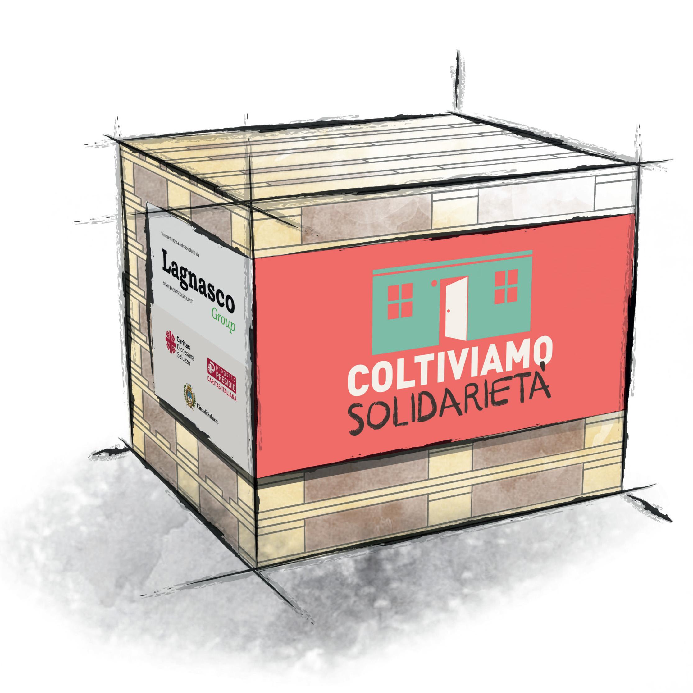 Coltiviamo solidarietà totem damiano saluzzo migrante progetto presidio accoglienza diffusa