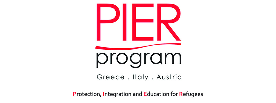 Il progetto PIER - Protection, Integration and Education for Refugees, finanziato dalla Coca Cola Foundation, coinvolge tre 3 partner nazionali Saluzzo Cuneo Italia Logo
