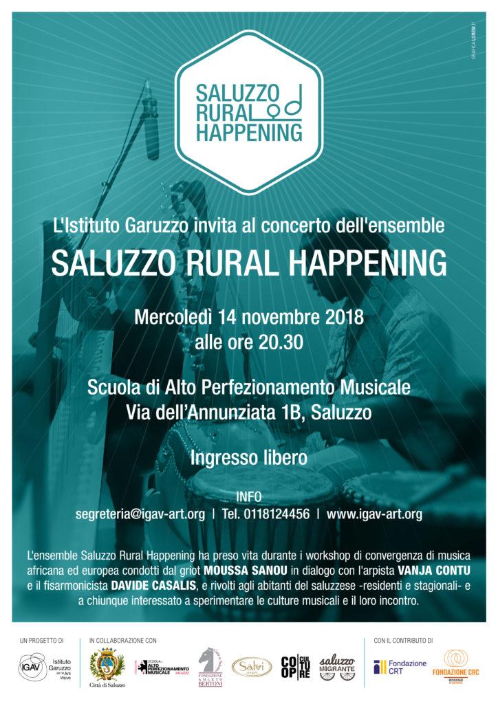 SRH Locandina Concerto Stampa Saluzzo Rural Happening Caritas Saluzzo Saluzzo Migrante